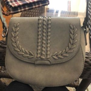 Gray crossbody bag